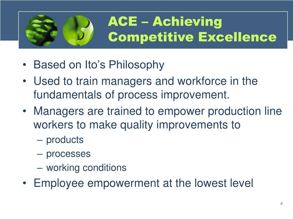 ACE – Achieving Competitive Excellence