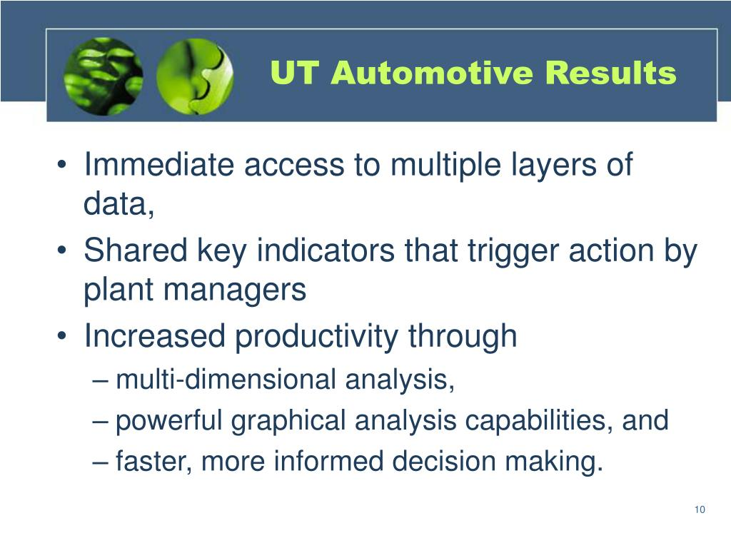 UT Automotive Results
