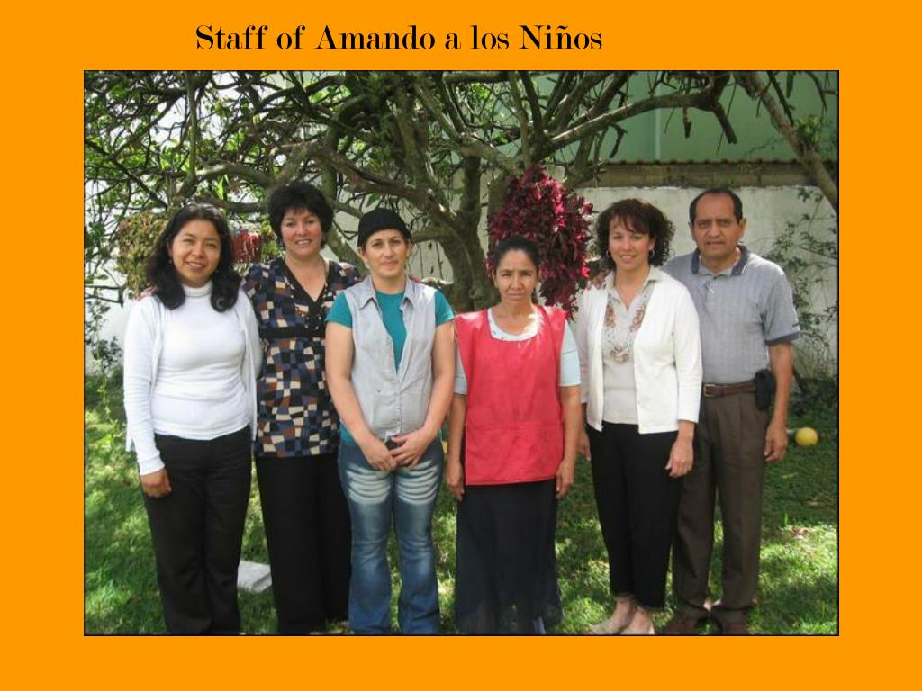 Staff of Amando a los Niños