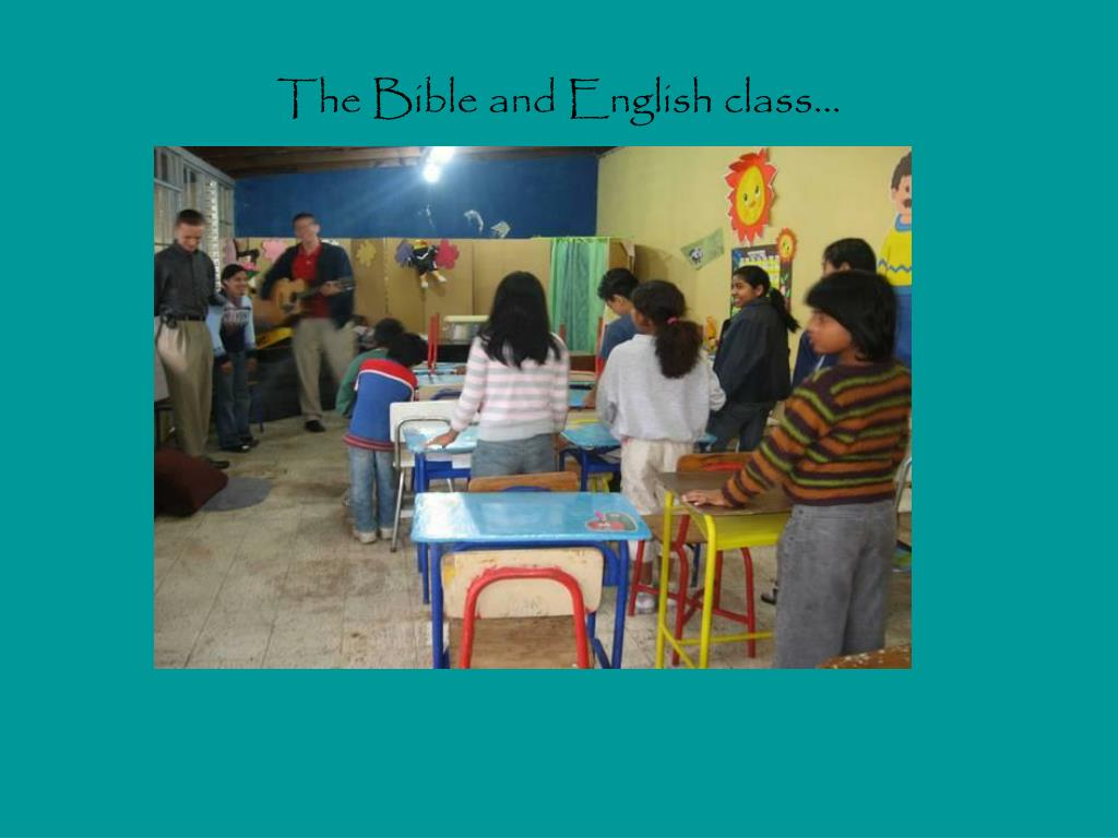 The Bible and English class…