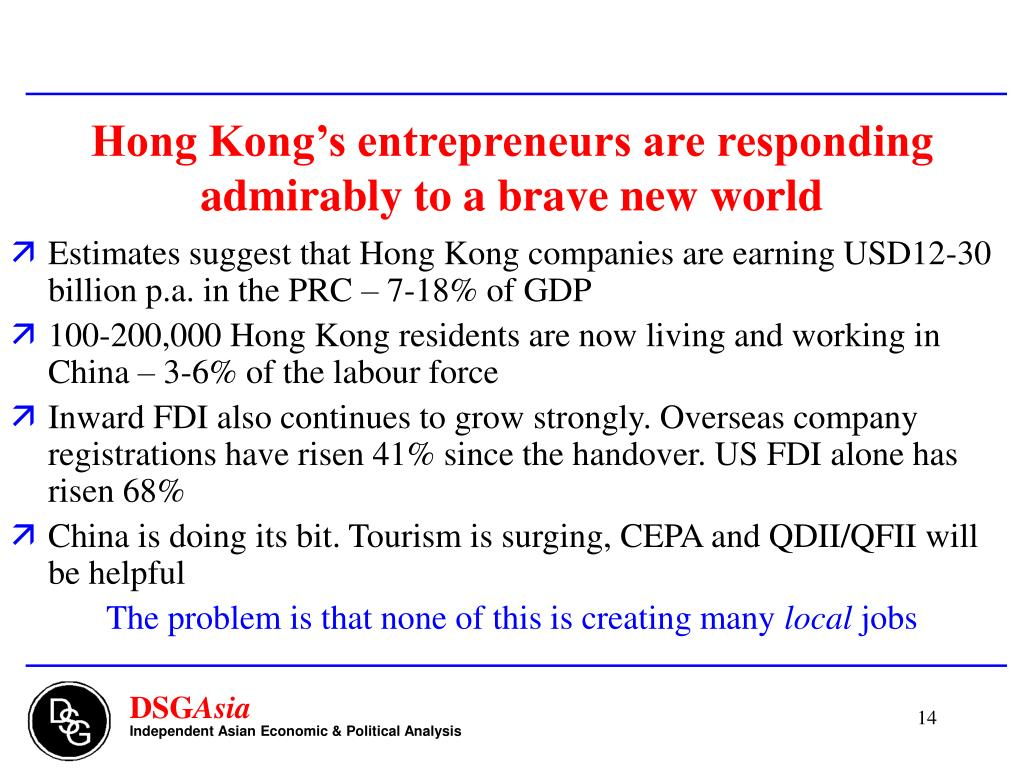 Hong Kong's entrepreneurs are responding admirably to a brave new world