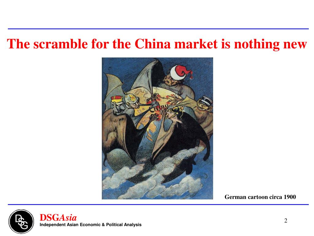 The scramble for the China market is nothing new
