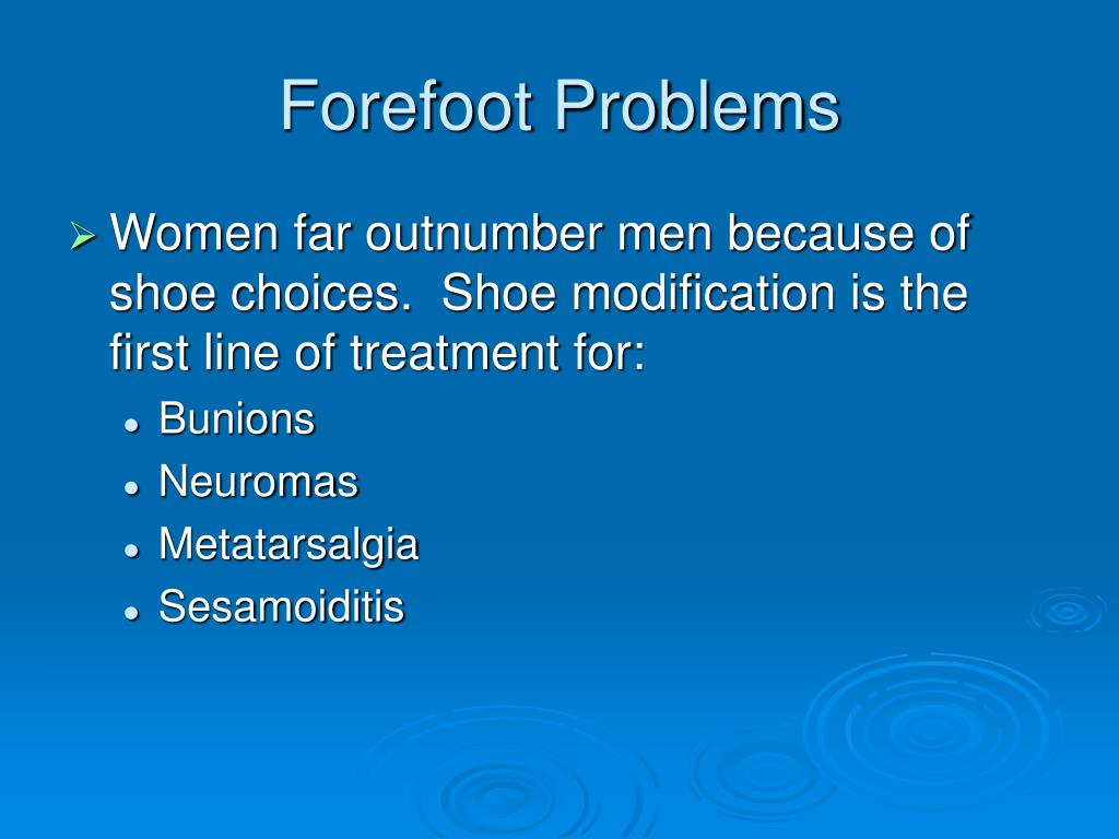 Forefoot Problems
