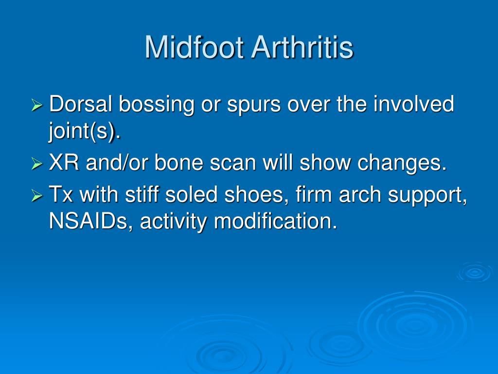 Midfoot Arthritis