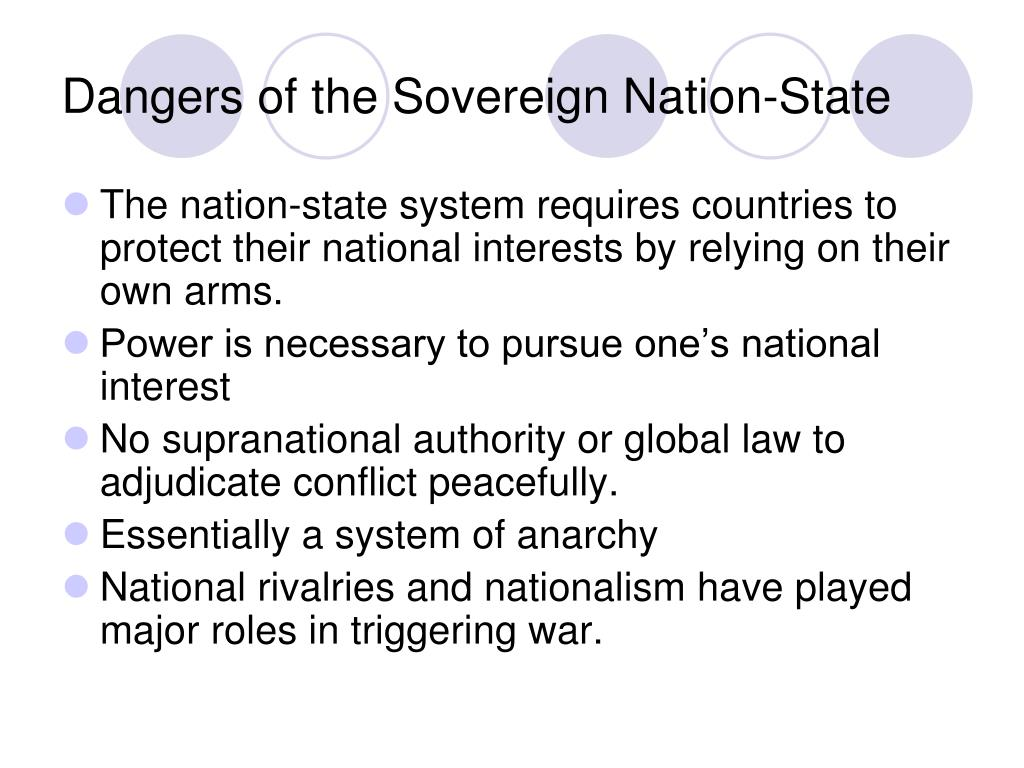 Dangers of the Sovereign Nation-State