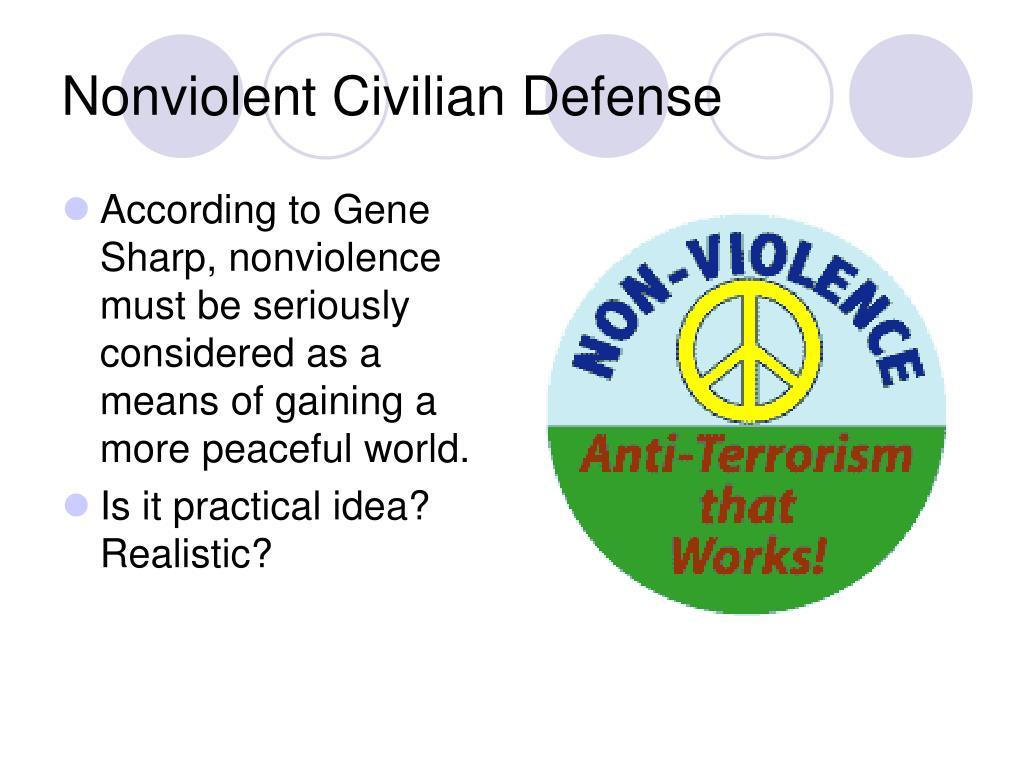 Nonviolent Civilian Defense