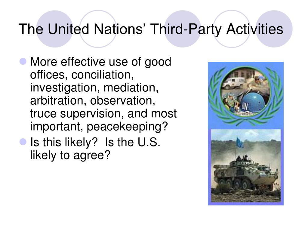 The United Nations' Third-Party Activities