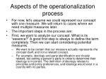 aspects of the operationalization process