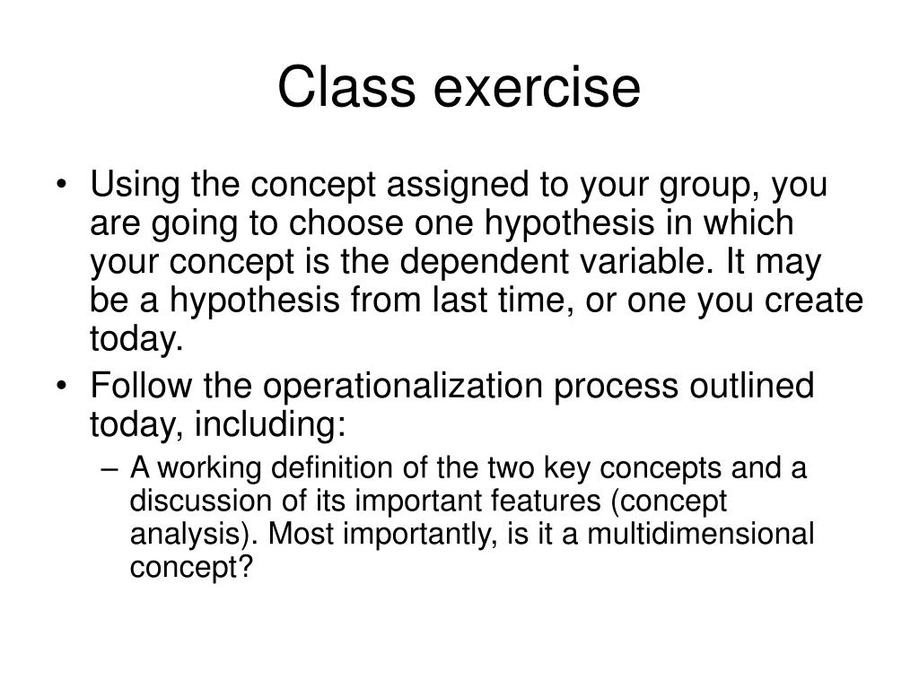 Class exercise