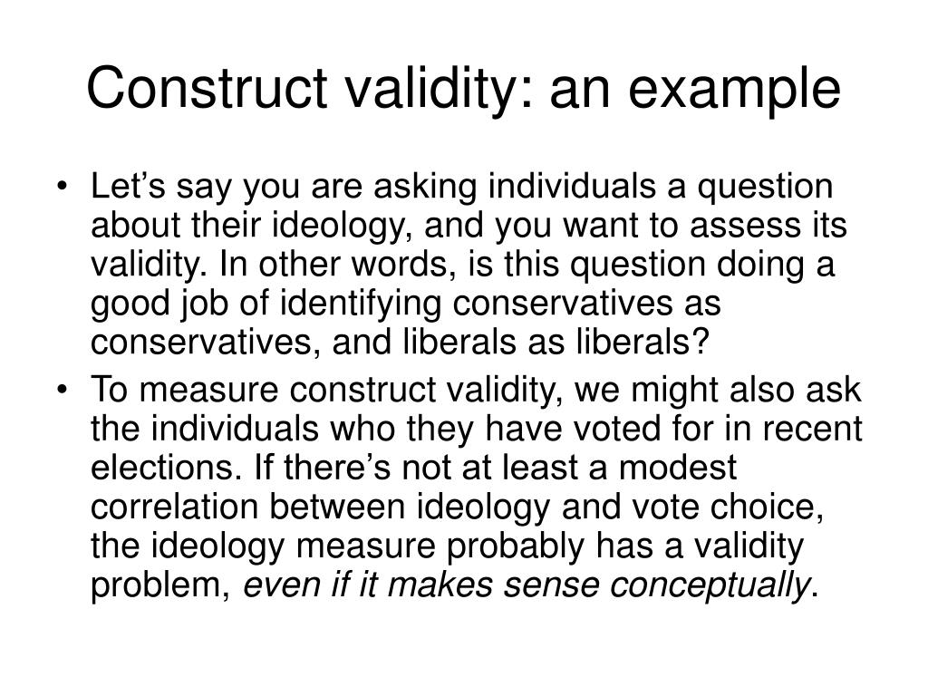 Construct validity: an example