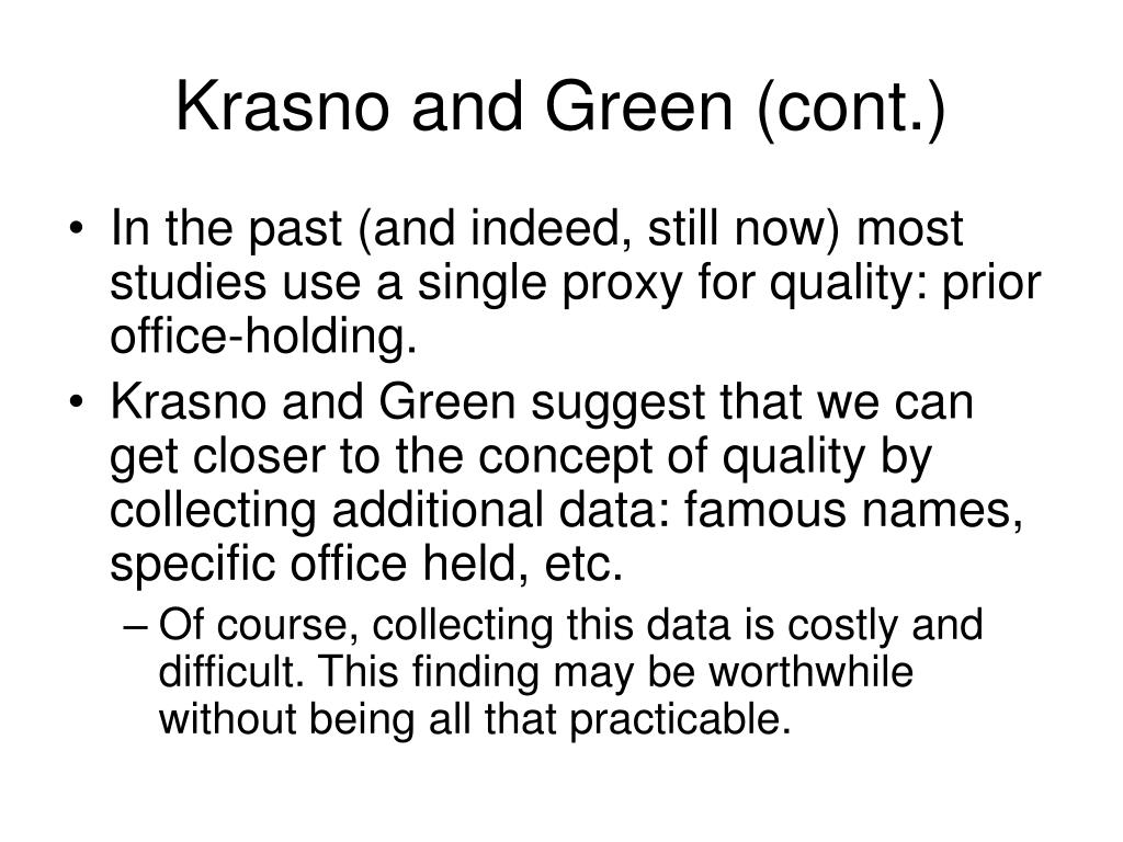 Krasno and Green (cont.)