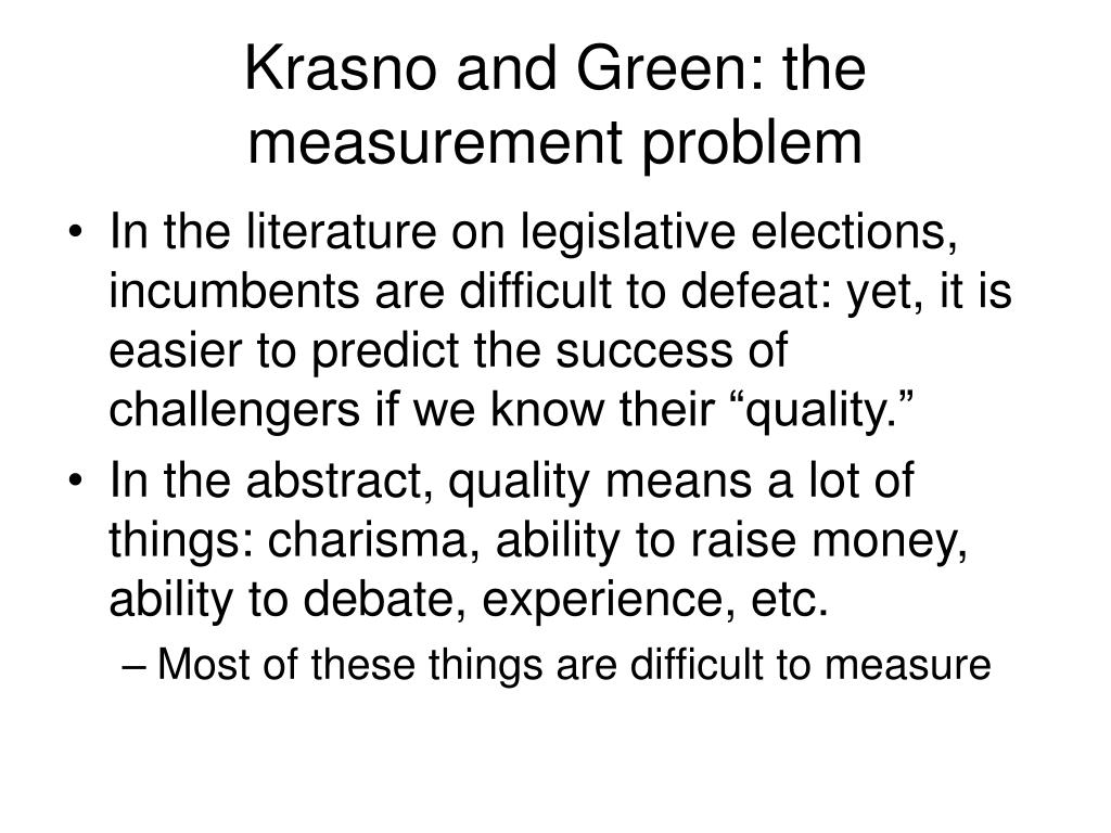 Krasno and Green: the measurement problem