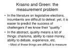 krasno and green the measurement problem