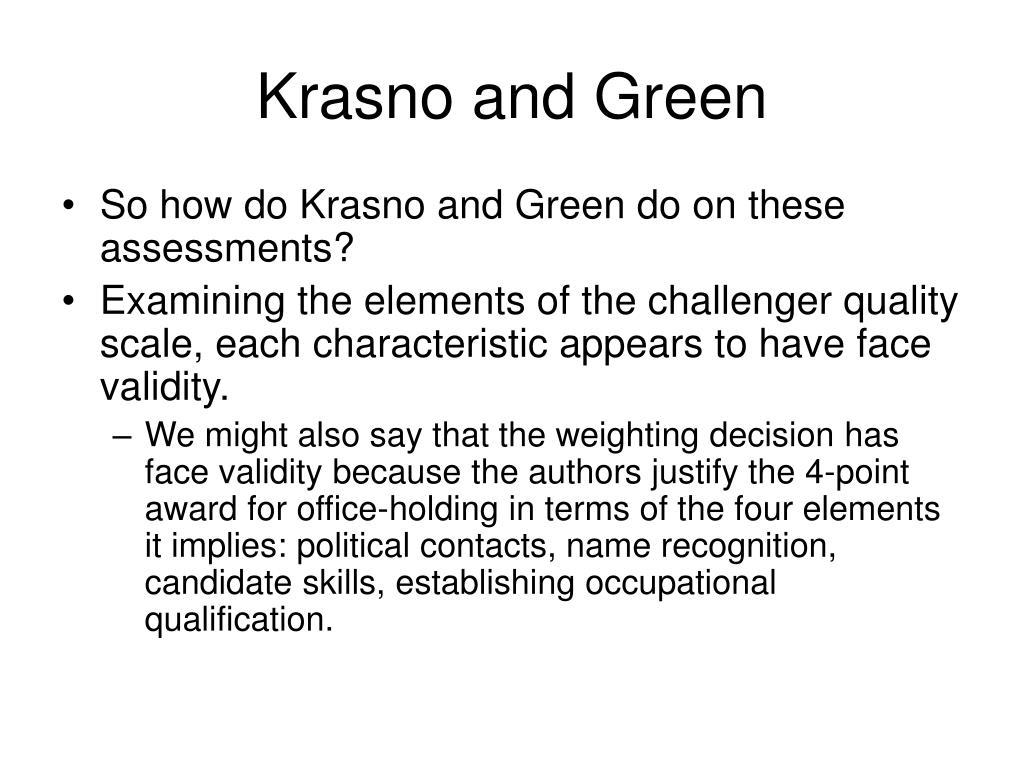 Krasno and Green