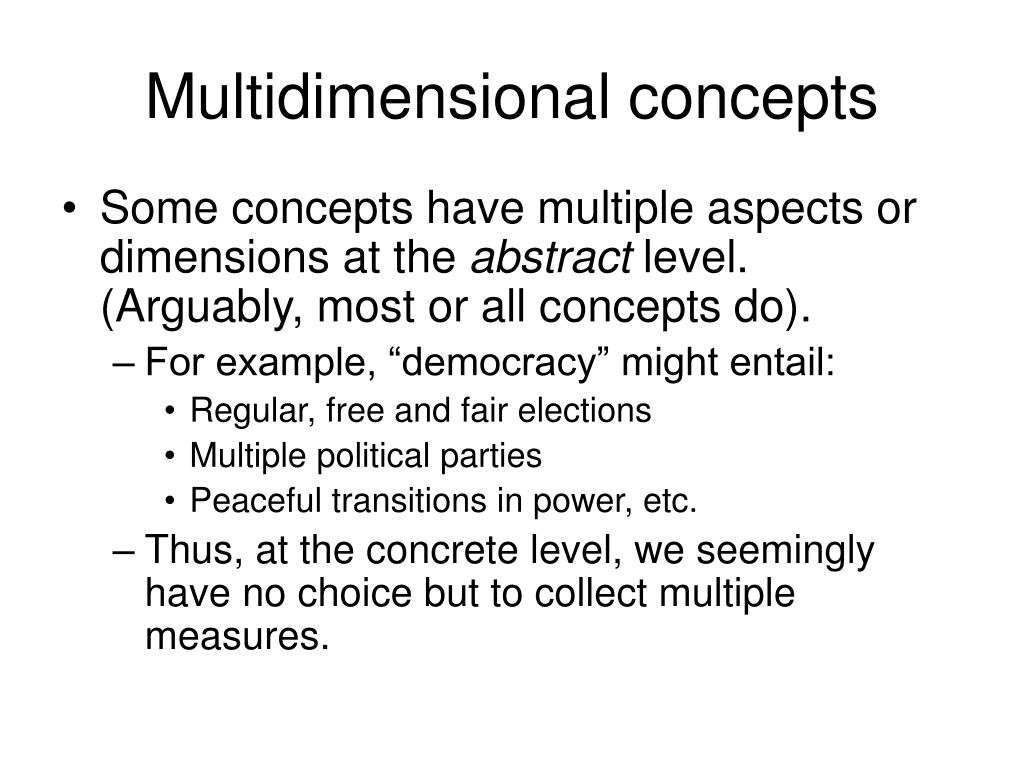 Multidimensional concepts