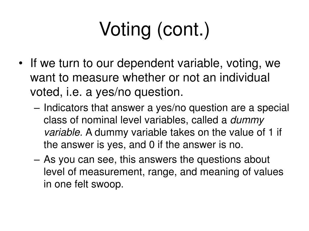 Voting (cont.)