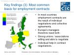 key findings 3 most common basis for employment contracts