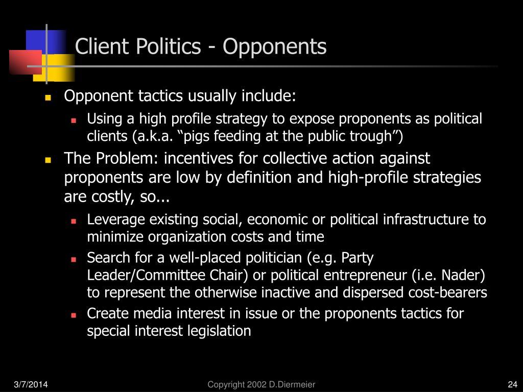 Client Politics - Opponents
