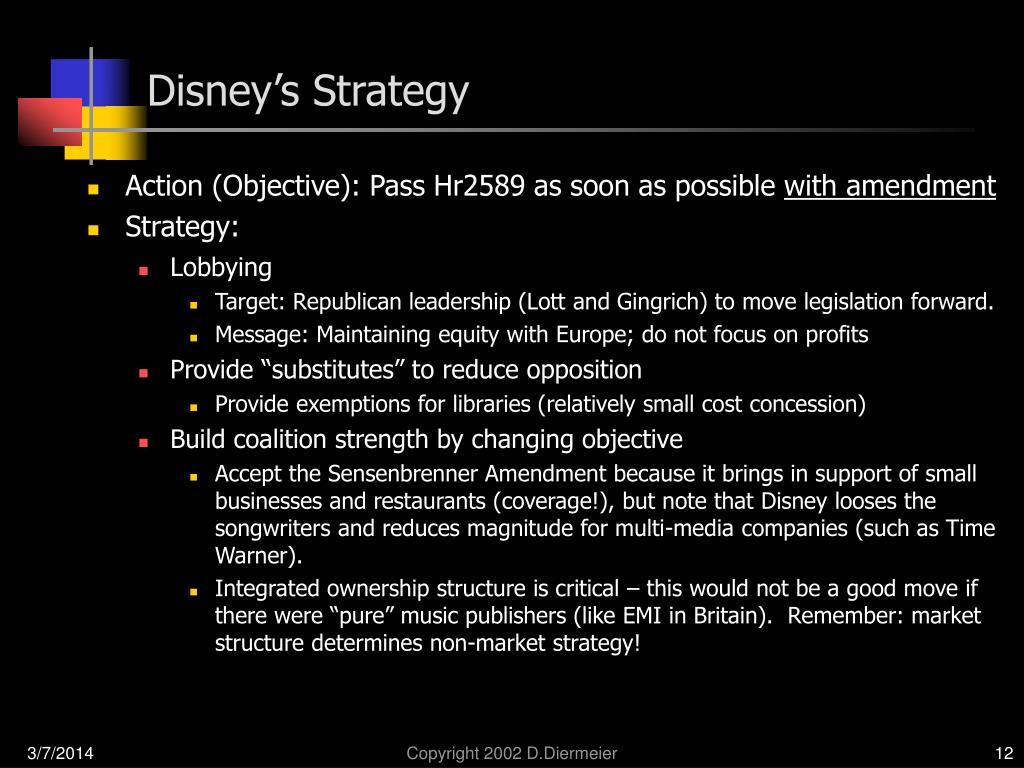 Disney's Strategy