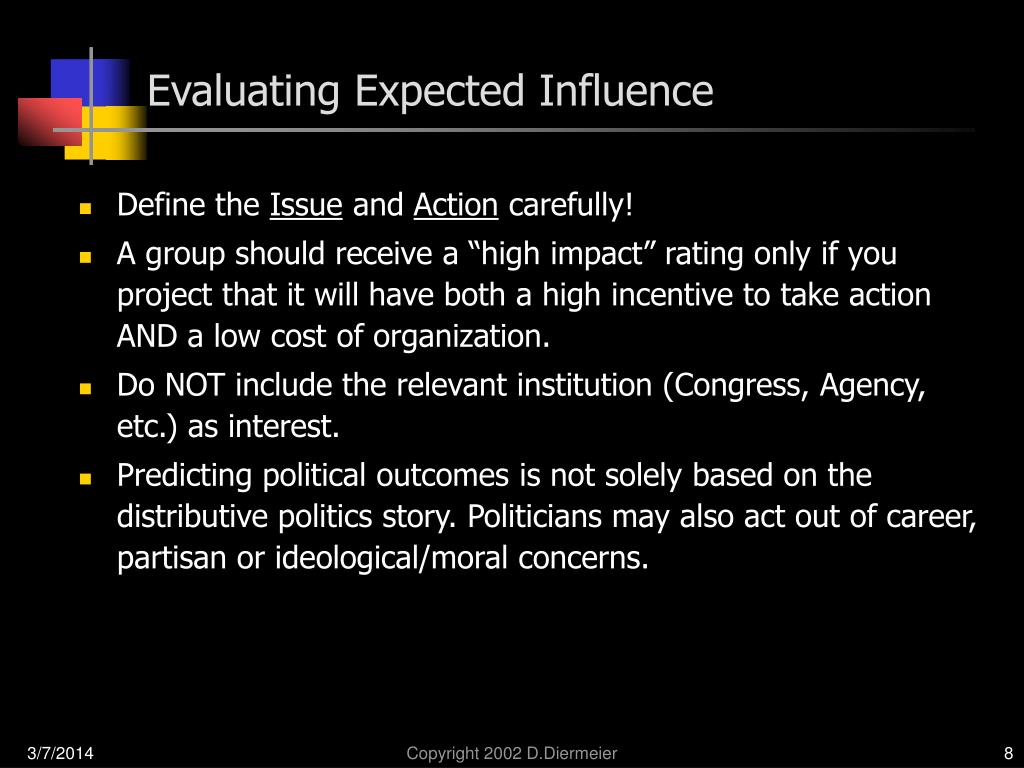 Evaluating Expected Influence