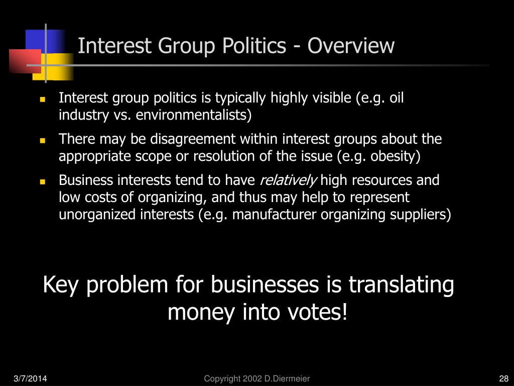 Interest Group Politics - Overview