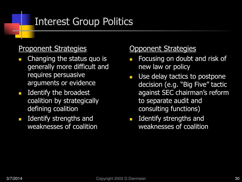 Proponent Strategies