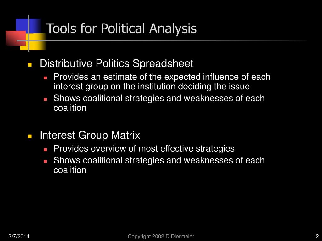 Tools for Political Analysis