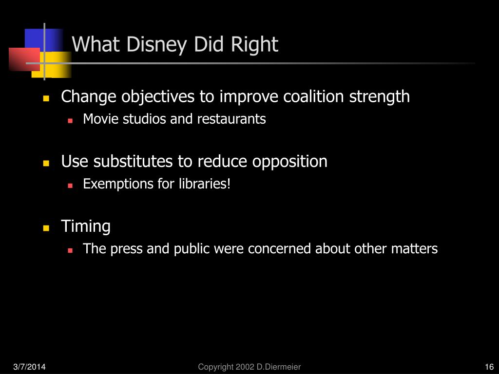 What Disney Did Right