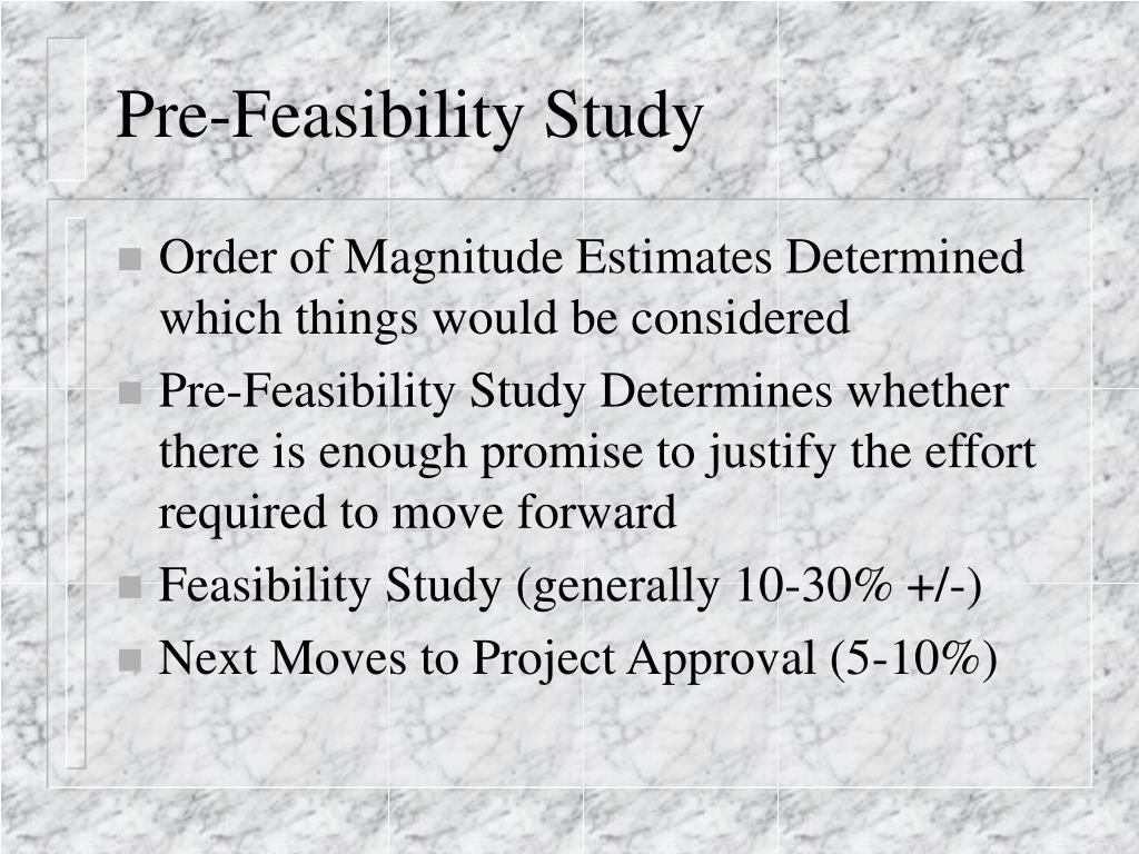 Starting A Mine: Pre-Feasibility and Feasibility Studies ...