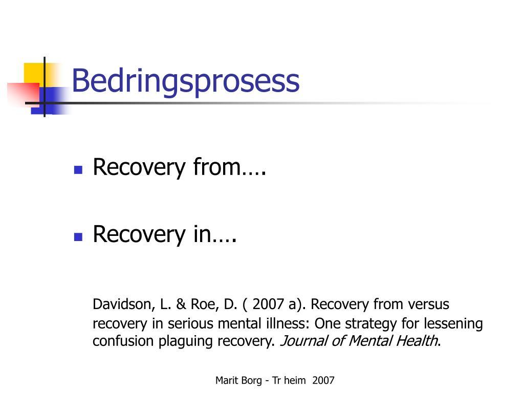 Bedringsprosess
