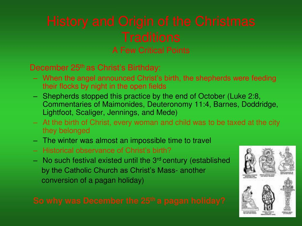 History and Origin of the Christmas Traditions