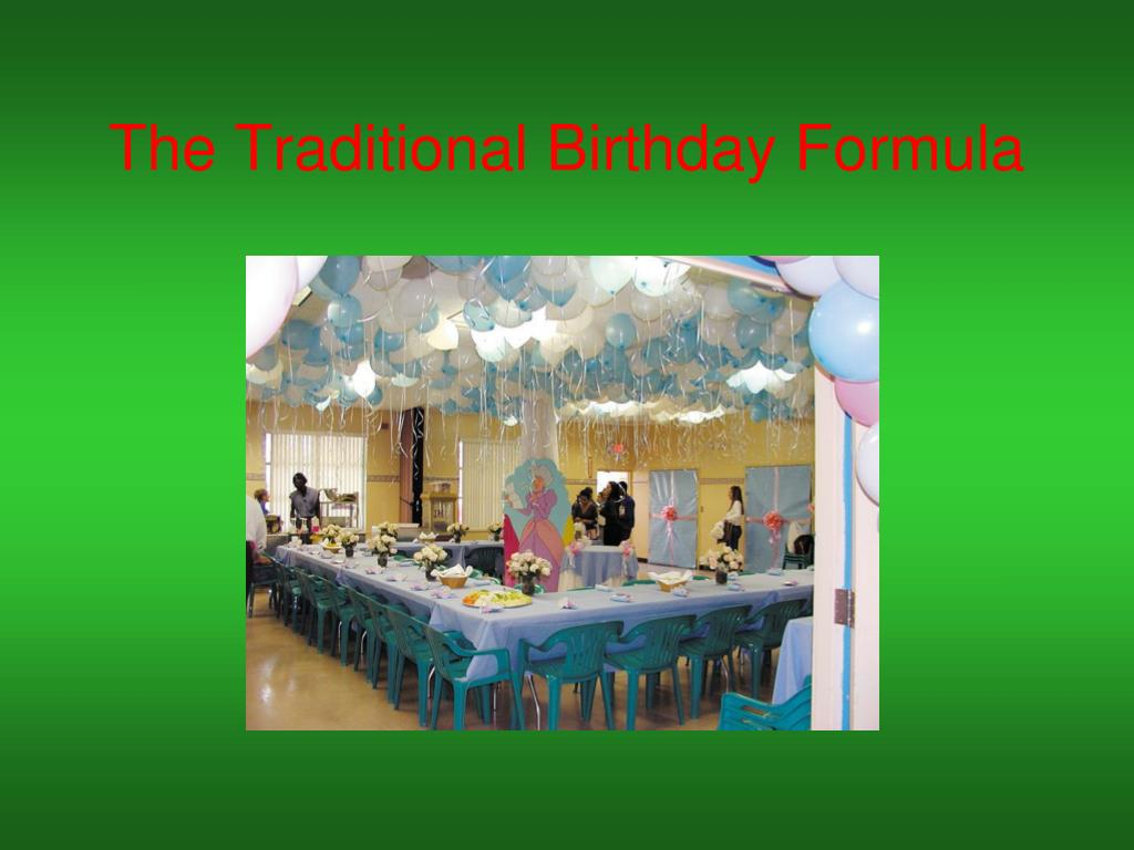 The Traditional Birthday Formula