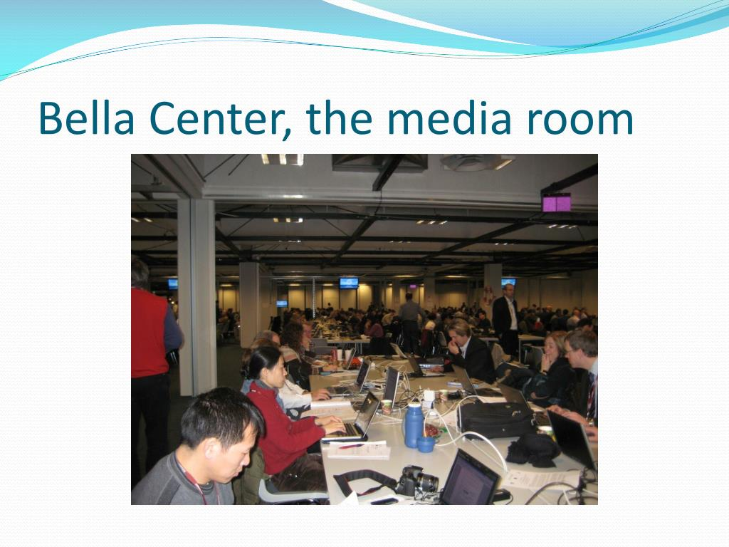 Bella Center, the media room