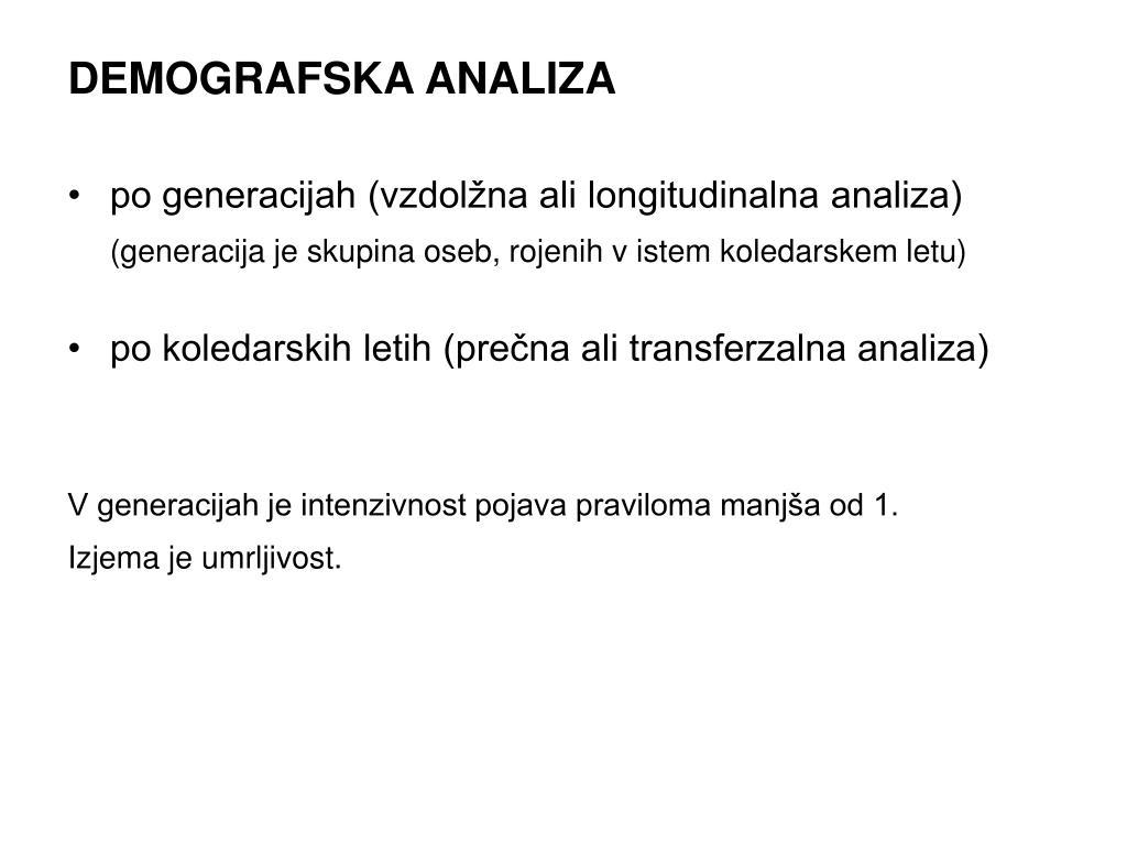 DEMOGRAFSKA ANALIZA