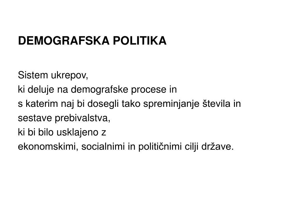 DEMOGRAFSKA POLITIKA