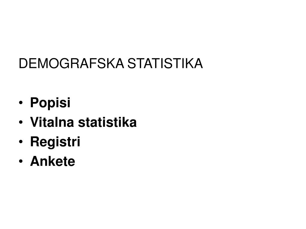 DEMOGRAFSKA STATISTIKA