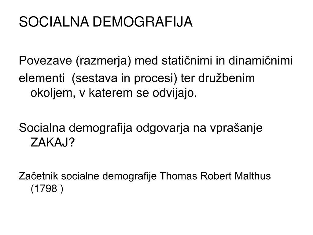 SOCIALNA DEMOGRAFIJA