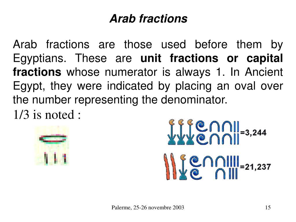 Arab fractions