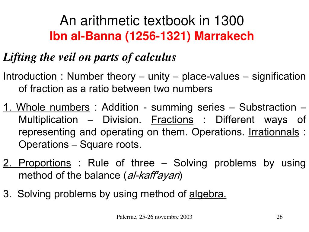 An arithmetic textbook in 1300