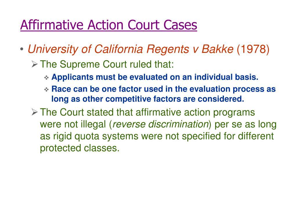 Affirmative Action Court Cases