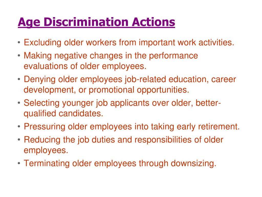 Age Discrimination Actions