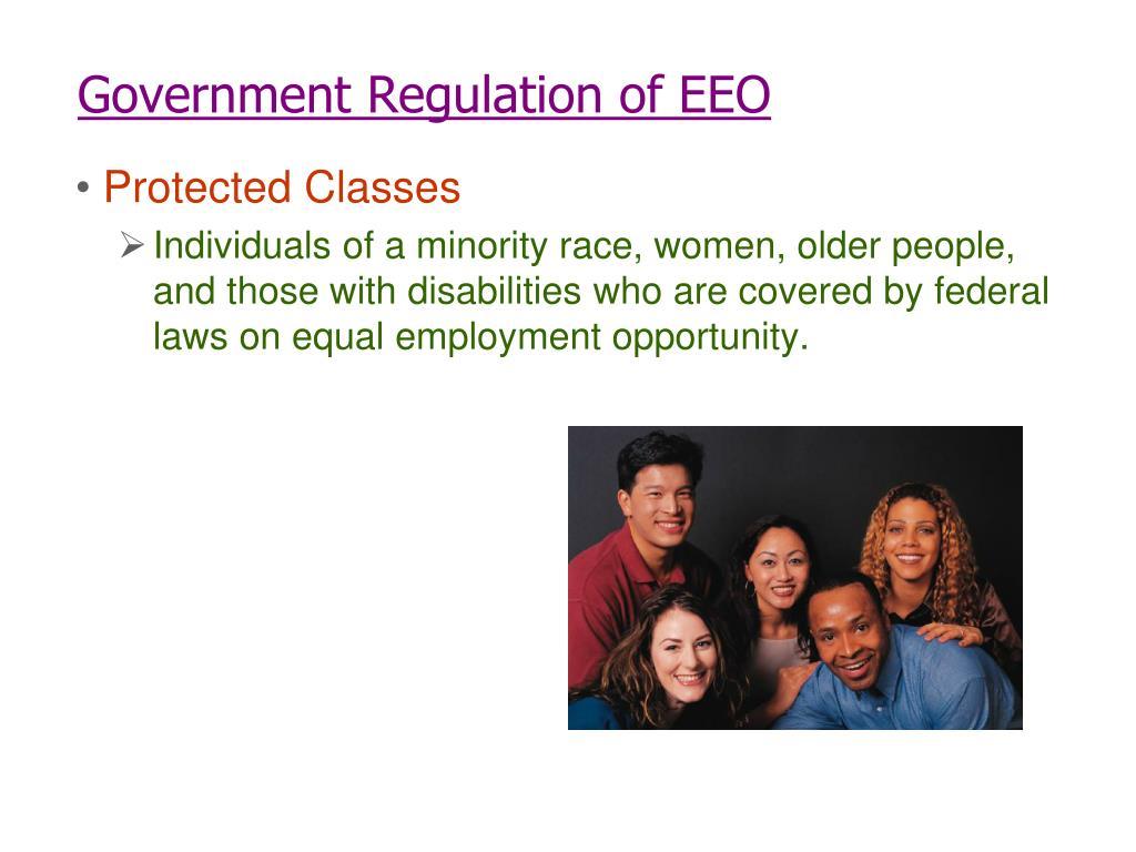 Government Regulation of EEO