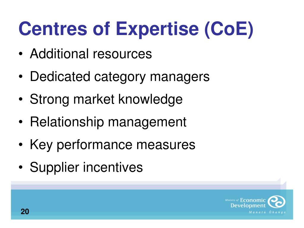 Centres of Expertise (CoE)