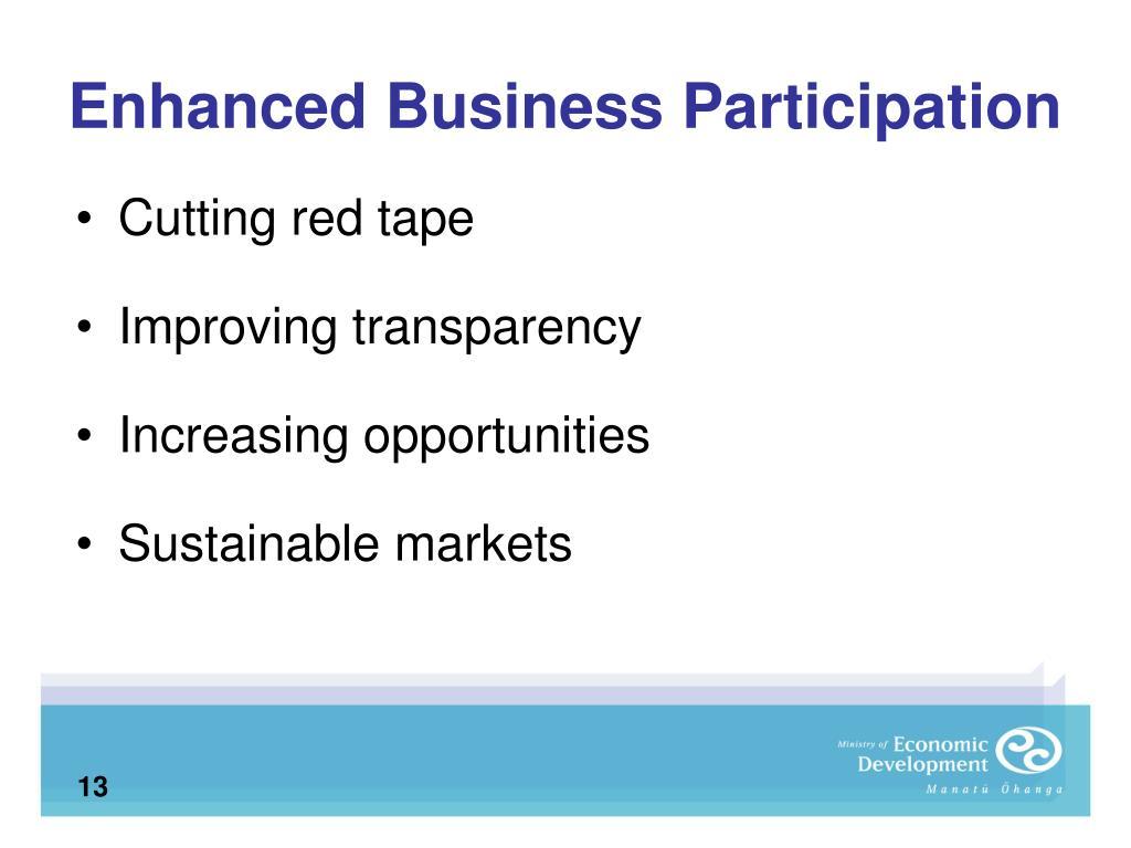 Enhanced Business Participation