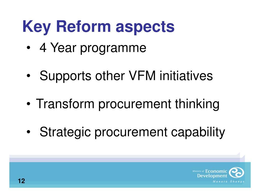 Key Reform aspects