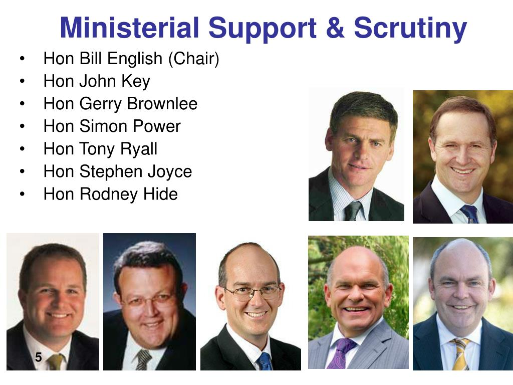 Ministerial Support & Scrutiny