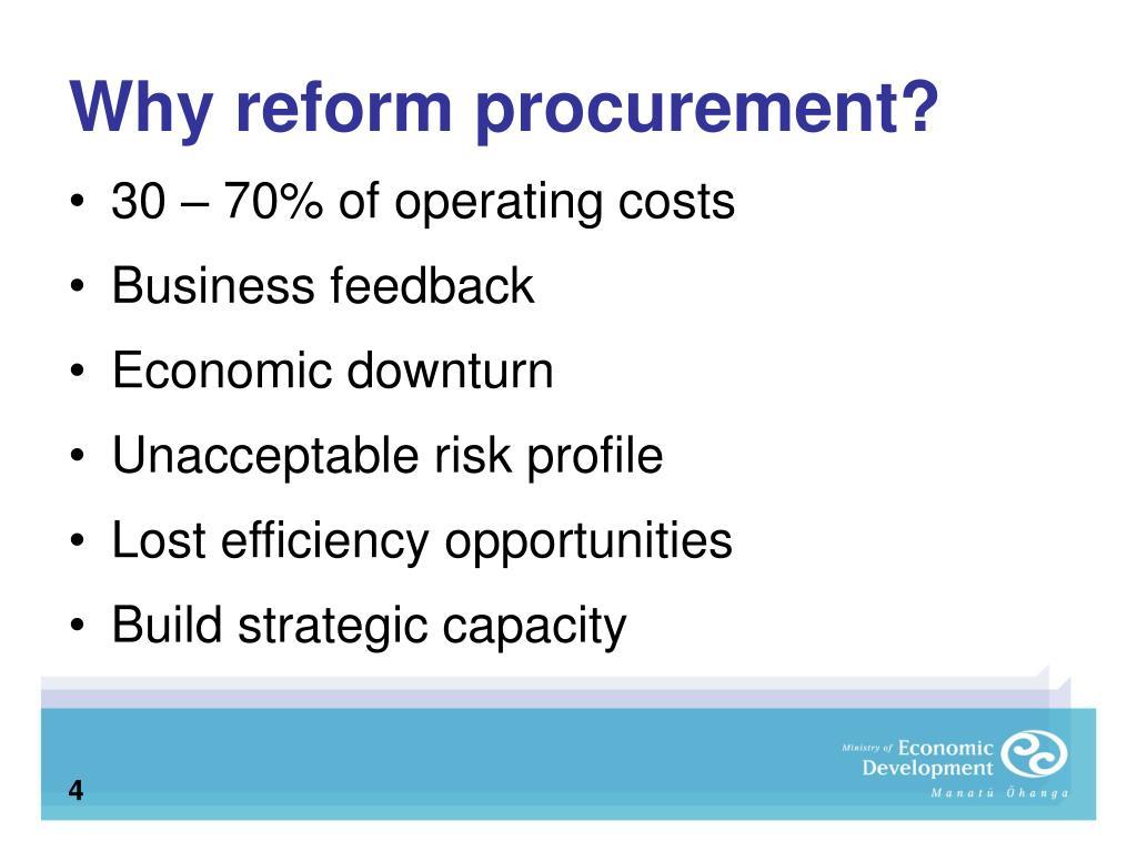 Why reform procurement?