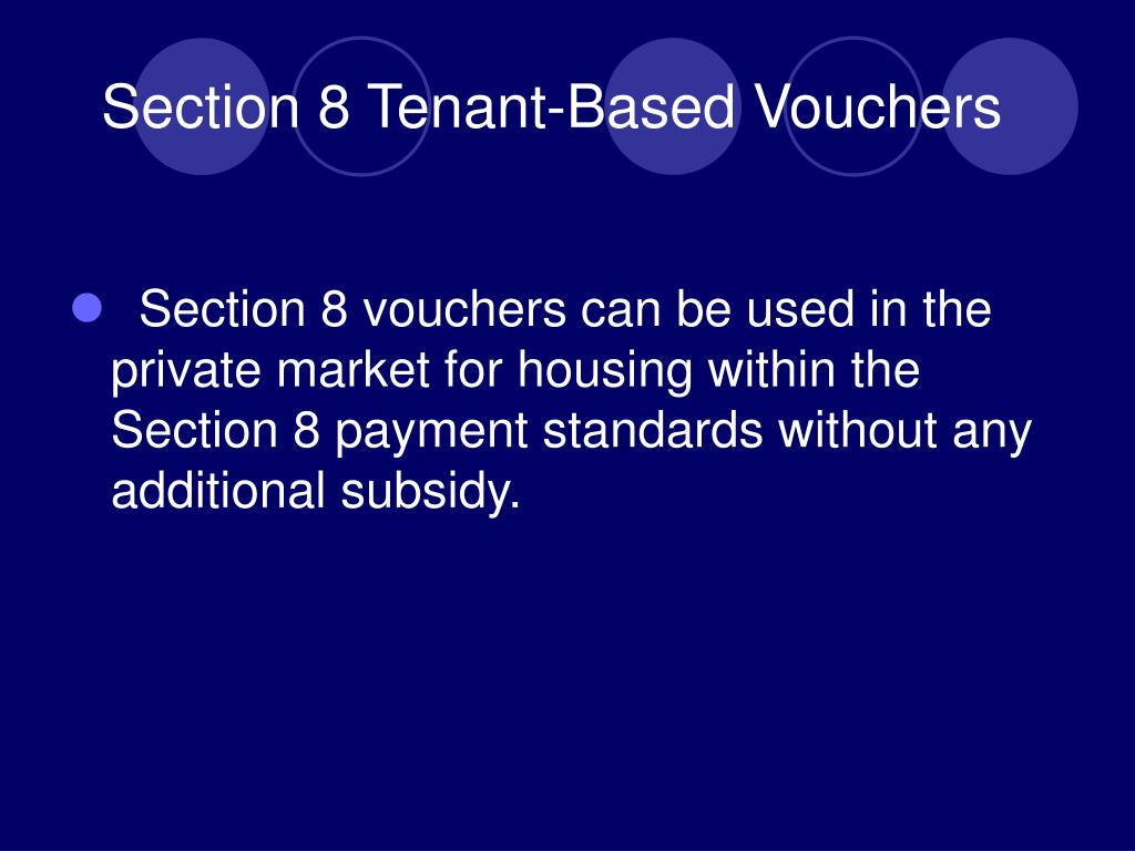 Section 8 Tenant-Based Vouchers