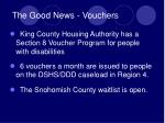 the good news vouchers