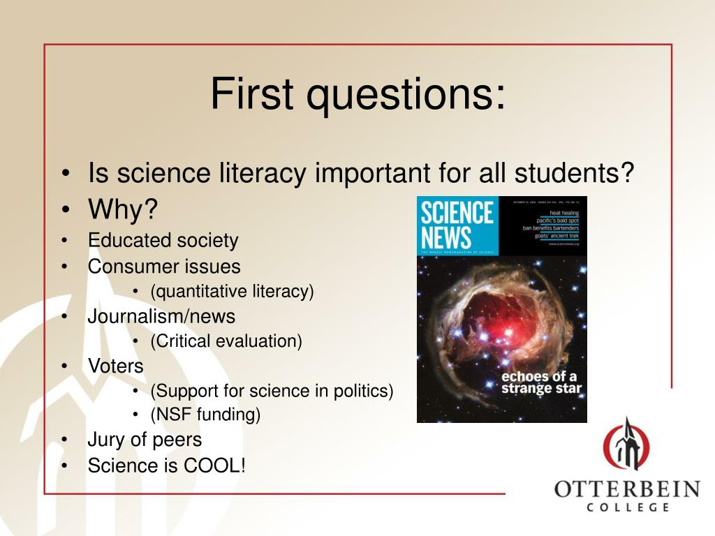 First questions: